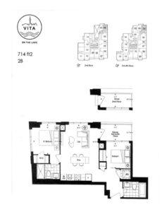 Vita - Floor Plan - 2B - 714sf